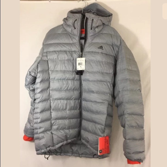 adidas Other - Adidas Goose Down Feather Gray Puffer Jacket